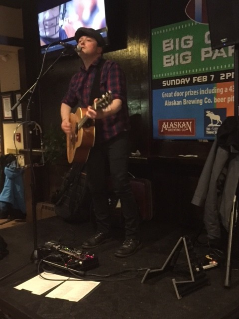 Jared Woods performing on Thursday, February 4th, 2016 at the Fancy Moose Lodge.