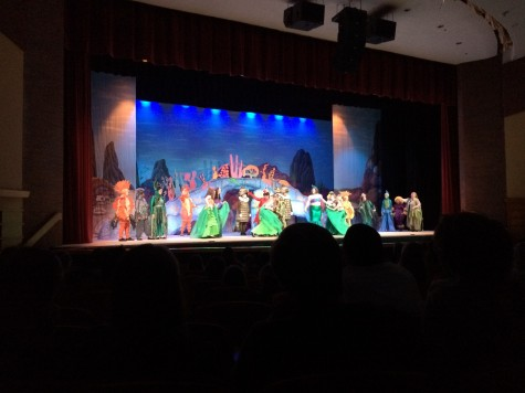 "The audience watches one of the opening scenes of ""The Little Mermaid"" at West High School on February 11th."