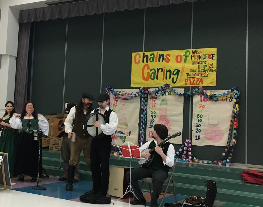 A Celtic band performs at Wendler Middle school on Saturday, March 26th.