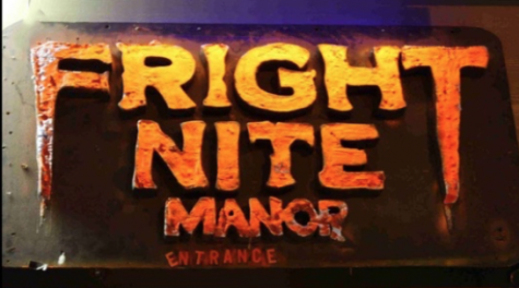 The Fright Nite Manor entrance sign overlooks customers as they walk into the entrance in the Northway Mall on October 22, 2018.